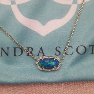 KENDRA SCOTT DRUSY NECKLACE- LIMITED ED TURQUOISE